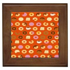 Coffee Donut Cakes Framed Tiles