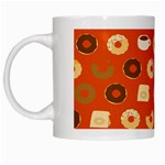 Coffee Donut Cakes White Mugs Left