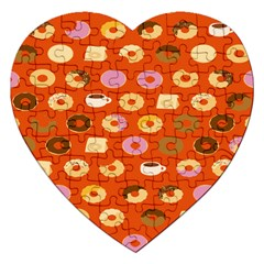 Coffee Donut Cakes Jigsaw Puzzle (heart)