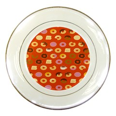 Coffee Donut Cakes Porcelain Plates
