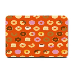 Coffee Donut Cakes Small Doormat