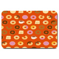Coffee Donut Cakes Large Doormat