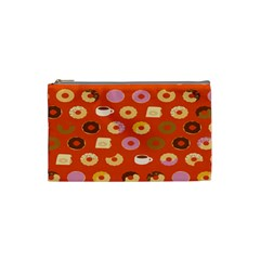 Coffee Donut Cakes Cosmetic Bag (small)