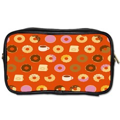 Coffee Donut Cakes Toiletries Bags 2 Side