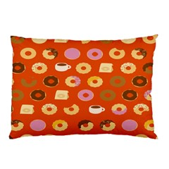 Coffee Donut Cakes Pillow Case (two Sides)