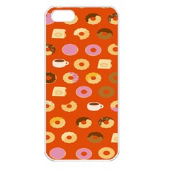 Coffee Donut Cakes Apple Iphone 5 Seamless Case (white)