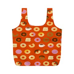 Coffee Donut Cakes Full Print Recycle Bags (m)