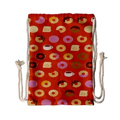 Coffee Donut Cakes Drawstring Bag (small)