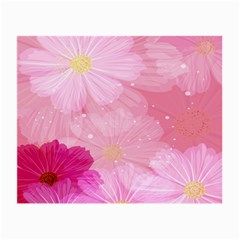 Cosmos Flower Floral Sunflower Star Pink Frame Small Glasses Cloth