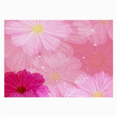 Cosmos Flower Floral Sunflower Star Pink Frame Large Glasses Cloth