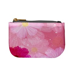 Cosmos Flower Floral Sunflower Star Pink Frame Mini Coin Purses