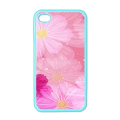 Cosmos Flower Floral Sunflower Star Pink Frame Apple Iphone 4 Case (color)