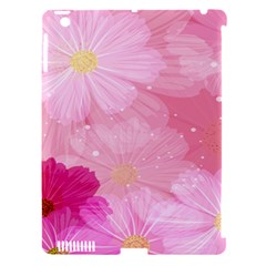 Cosmos Flower Floral Sunflower Star Pink Frame Apple Ipad 3/4 Hardshell Case (compatible With Smart Cover)