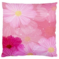Cosmos Flower Floral Sunflower Star Pink Frame Large Cushion Case (one Side)