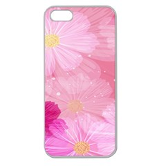 Cosmos Flower Floral Sunflower Star Pink Frame Apple Seamless Iphone 5 Case (clear)