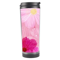 Cosmos Flower Floral Sunflower Star Pink Frame Travel Tumbler