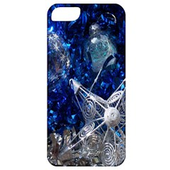Christmas Silver Blue Star Ball Happy Kids Apple Iphone 5 Classic Hardshell Case
