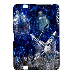 Christmas Silver Blue Star Ball Happy Kids Kindle Fire Hd 8 9