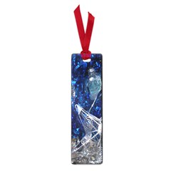 Christmas Silver Blue Star Ball Happy Kids Small Book Marks