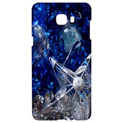 Christmas Silver Blue Star Ball Happy Kids Samsung C9 Pro Hardshell Case