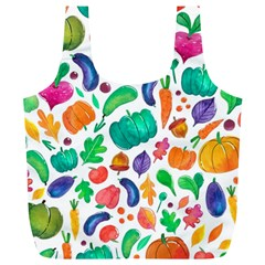 Pattern Autumn White Full Print Recycle Bags (l)