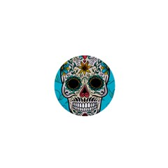 Cool Sugar Skull 1  Mini Magnet