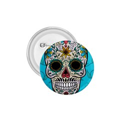 Cool Sugar Skull 1 75  Button