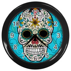 Sugar Skull New 2015 Wall Clocks (black)