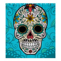 Sugar Skull New 2015 Shower Curtain 66  X 72  (large)