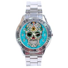 Sugar Skull New 2015 Stainless Steel Analogue Watch