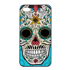 Sugar Skull New 2015 Apple Iphone 4/4s Seamless Case (black)