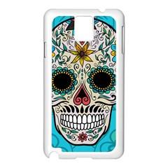 Sugar Skull New 2015 Samsung Galaxy Note 3 N9005 Case (white)