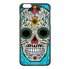 Sugar Skull New 2015 Apple Iphone 6 Plus/6s Plus Black Enamel Case