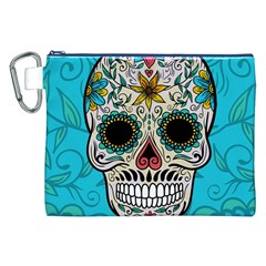 Sugar Skull New 2015 Canvas Cosmetic Bag (xxl)