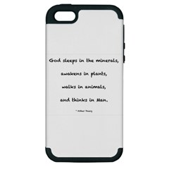 Inspirational Quote (arthur Young) Apple Iphone 5 Hardshell Case (pc+silicone)