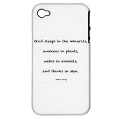 Inspirational Quote (arthur Young) Apple Iphone 4/4s Hardshell Case (pc+silicone)