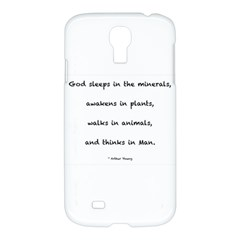 Inspirational Quote (arthur Young) Samsung Galaxy S4 I9500/i9505 Hardshell Case