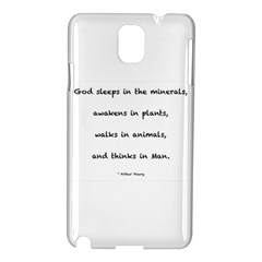 Inspirational Quote (arthur Young) Samsung Galaxy Note 3 N9005 Hardshell Case