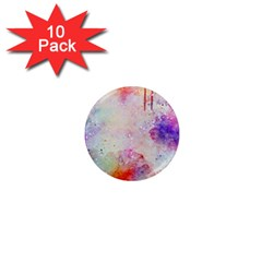 Watercolor Galaxy Purple Pattern 1  Mini Magnet (10 Pack)