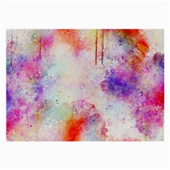 Watercolor Galaxy Purple Pattern Large Glasses Cloth (2 Side)
