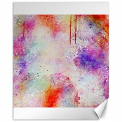 Watercolor Galaxy Purple Pattern Canvas 11  X 14