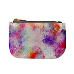Watercolor Galaxy Purple Pattern Mini Coin Purses