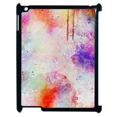 Watercolor Galaxy Purple Pattern Apple Ipad 2 Case (black)