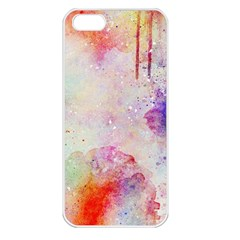 Watercolor Galaxy Purple Pattern Apple Iphone 5 Seamless Case (white)