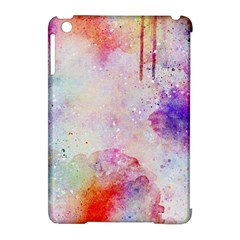 Watercolor Galaxy Purple Pattern Apple Ipad Mini Hardshell Case (compatible With Smart Cover)
