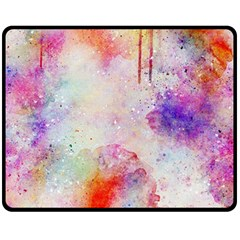Watercolor Galaxy Purple Pattern Double Sided Fleece Blanket (medium)