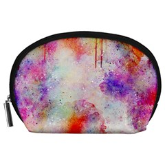 Watercolor Galaxy Purple Pattern Accessory Pouches (large)