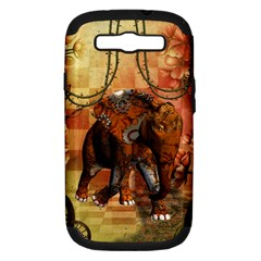 Steampunk, Steampunk Elephant With Clocks And Gears Samsung Galaxy S Iii Hardshell Case (pc+silicone)