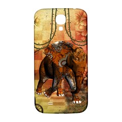 Steampunk, Steampunk Elephant With Clocks And Gears Samsung Galaxy S4 I9500/i9505  Hardshell Back Case