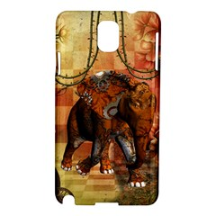 Steampunk, Steampunk Elephant With Clocks And Gears Samsung Galaxy Note 3 N9005 Hardshell Case